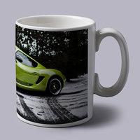 Green Porche Sports Car Coffee Mug