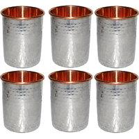 Prisha India Set Of 6, Copper Glass For Ayurvedic Health Benefits
