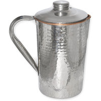 Prisha India Copper Dimple Jug Outside Stainless Steel Indian Copper Utensils For Ayurveda Healing