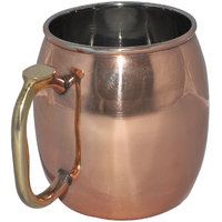 Prisha India Copper Plating Stainless Steel Moscow Mule Mug