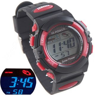 Digital Sports Watch With Rubber Strap