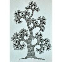 Mandi - Gond Tribal Wall Art On Paper - Tree Of Life - IGPa-013