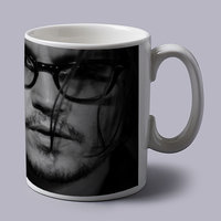 Johnny Depp Black And White Coffee Mug