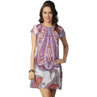 Love From India  Blue Tunic With Paisley Print _buy One Tunic Get One Scraf Free