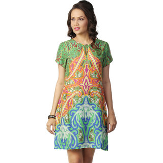 Love From India - Blue Symmetrical Print Dress