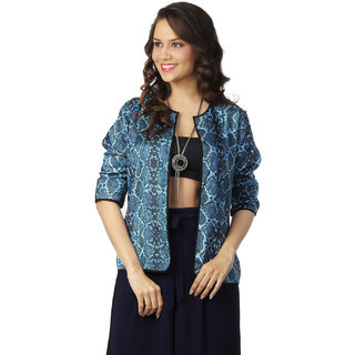 Love From India - Blue Snake Skin Print Cape