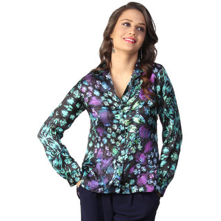 Love From India  Green Jewel Print Tunic _buy One Tunic Get One Scraf Free