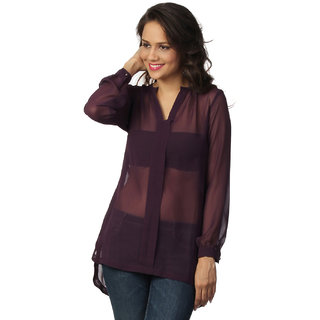 Love From India  Purple Tunic For Women _buy One Tunic Get One Scraf Free