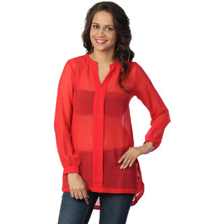 Love From India  Red Tunic For Women _buy One Tunic Get One Scraf Free