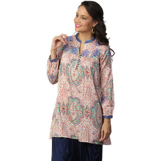 LOVE FROM INDIA PURPLE PAISLEY PRINTED TUNIC _buy One Tunic Get One Scraf Free