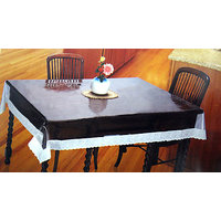 """Table Cloth - 54""""x78"""" Clear Transparent With Lace Border Tablecloth & Protector"""