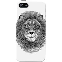 DailyObjects Black And White Lion Case For IPhone 5/5S