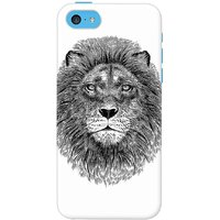 DailyObjects Black And White Lion Case For IPhone 5C