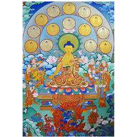 Tibetean Thangka Buddha Poster 12x18 (A3 Size)