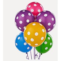 Tiger 50073 Polka Dot Printed Balloon Multicolor (Pack Of 30)
