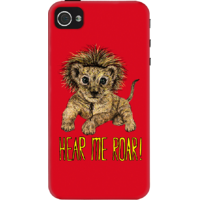 Dailyobjects Hear Me Roar Case For Iphone 4/4S Red