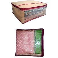 Nmpl Jambo Saree Box And Maroon Saree Cover 10 Pcs