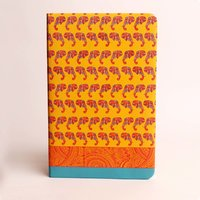 Doodle Ethnic Elephant Pattern Diary A5 Stationary Notebook UV - Paper Finish