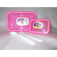 Fair Food Air Tight & Leak Proof Lunch Box 600 +125 With Fork And Spoon