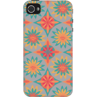 Dailyobjects Happy Flowers Case For Iphone 4/4S Grey