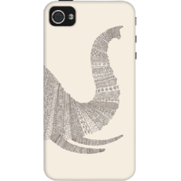 Dailyobjects Aztec White Elephant Trunk Case For Iphone 4/4S White/Cream