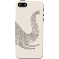 Dailyobjects Aztec White Elephant Trunk Case For Iphone 5/5S White/Cream