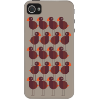 Dailyobjects Big Birds Case For Iphone 4/4S Grey