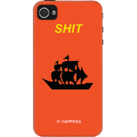 Dailyobjects Shit It Happens Case For Iphone 4/4S Red