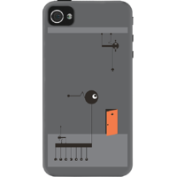Dailyobjects Exit Plan Case For Iphone 4/4S Grey