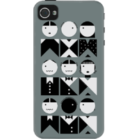 Dailyobjects French Fashion Case For Iphone 4/4S Grey
