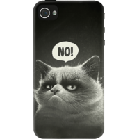 Dailyobjects Grumpy Puss Case For Iphone 4/4S Black