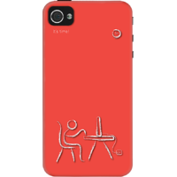 Dailyobjects Its Time Case For Iphone 4/4S Red