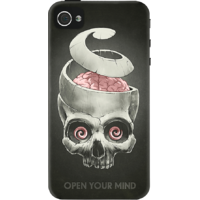 Dailyobjects Open Your Mind Case For Iphone 4/4S Black