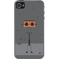 Dailyobjects Twin Spark Case For Iphone 4/4S Grey