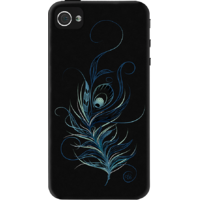 Dailyobjects Peacock Feather Black Case For Iphone 4/4S Black