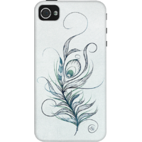 Dailyobjects Peacock Feather Case For Iphone 4/4S Grey