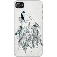Dailyobjects Wolf Boho Case For Iphone 4/4S Grey