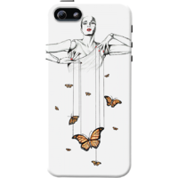 Dailyobjects Butterfly Dance Case For Iphone 5/5S White/Cream