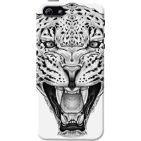 Dailyobjects Leopard Growl Case For Iphone 5/5S White/Cream