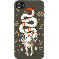 Dailyobjects Long Tail Fox Case For Iphone 4/4S Grey