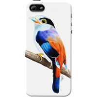 Dailyobjects Silver Breasted Broadbill Case For Iphone 5/5S White/Cream