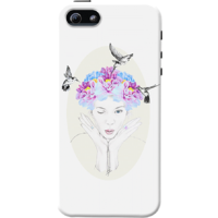 Dailyobjects Spring Garden Case For Iphone 5/5S White/Cream