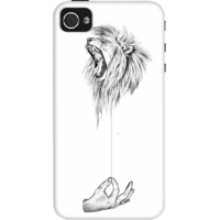 Dailyobjects Stringed Roar Case For Iphone 4/4S White/Cream