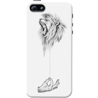 Dailyobjects Stringed Roar Case For Iphone 5/5S White/Cream