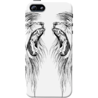 Dailyobjects Twin Lions Case For Iphone 5/5S White/Cream