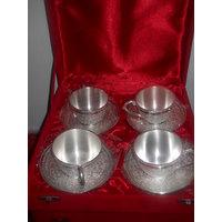 Designer Cup Saucer Set (4 Cup - 4 Saucer)