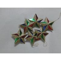 Christmas Decoration Stars Set Of 6 Pcs