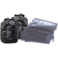 120 Bags Disposable Garbage Trash Waste Dustbin Bags For 60cm X 45cm (Black)