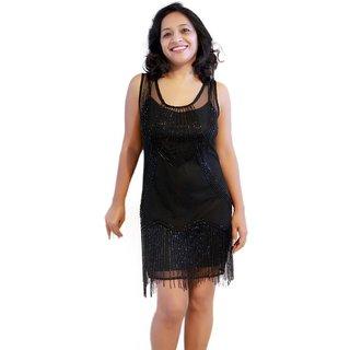 Dazzling Black Short Dress