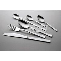24 Piece Fully Stainless Steel Cutlery Set Heavy Gauge Mirror Finish